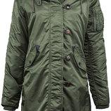 Куртка Elyse Parka Alpha Industries оливковая