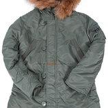 Зимова жіноча куртка аляска Darla Alpha Industries оливкова