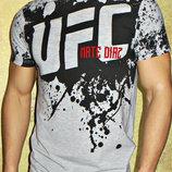 Футболка мужская UFC светло-серая.