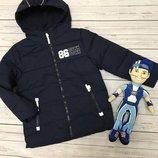 1. Зимняя куртка для мальчика 110 р Topolino Тёплая куртка, не промокает и не продувает