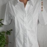 Новая белая блуза -рубашка comfort collection