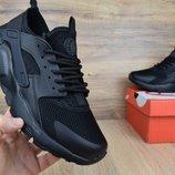 Кроссовки мужские сетка Nike Huarache black