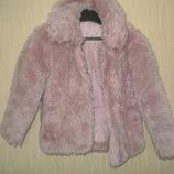 Шикарная короткая курточка - шубка ADAMS kids на девочку 6-7 лет