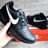 Кроссовки Nike Roshe run black 36-40р