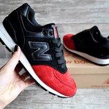 Кроссовки женские New Balance black/red