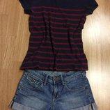 Фирменные джинсовые шорты H&M,шортики подарок ремень
