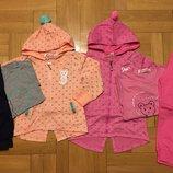 Акция Трикотажный костюм-тройка для девочек 86-116 р