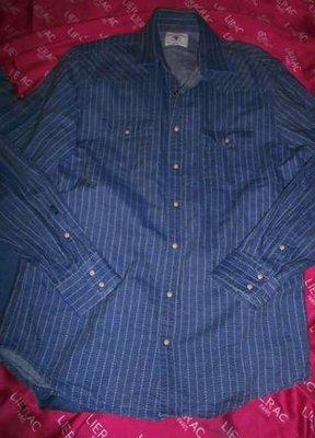 Рубашка джинсовая в полоску blackmith.индия.