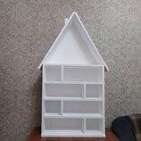 Домик для игрушек, кукольный домик, полка домик 118×70×19 см. Новый