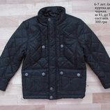 6-7 лет. 116-122 см. George. куртка демисезон, черная.