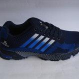 Качественные мужские кроссовки сетка синие 41-46р копия адидас