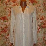 Рубашка длинная, удлиненная хлопок-ришелье р.8-12