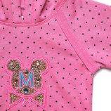 Гламурный трикотажный костюм для девочки 1,5-4 года