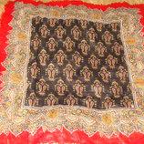 платок шерсть Италия принт Купеческий 75Х77 Hermes Chanel