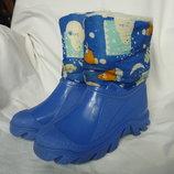 Фирменные сапоги для снега и слякоти 35р-22-22,5см, теплые, не промокают