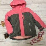 1. Зимняя куртка двойка 5-6 лет 116 см kiki&koko Куртка очень тёплая, флиска пристегивается к куртке
