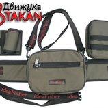 Модульная поясная сумка с органайзером для приманок и съемным держателем удилища - Движуха Stakan