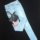 Джинсы скини, р-р S-M, джинсовые брюки, узкие, узкачи, слимы