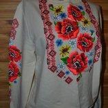 блуза джемпер с настоящей цветочной росписью В стиле Вышиванка