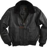 Кожаная летная куртка G-1 Leather Jacket черная