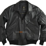 Кожаная летная куртка Leather CWU 45/P Flight Jacket черная