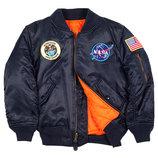 Куртка Youth NASA MA-1 Flight Jacket Alpha Industries синяя