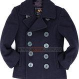 Детское пальто бушлат Вмф Сша Boys USN Pea Coat Alpha Industries