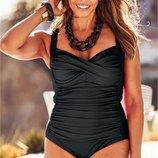 18 ххл 46 Marks & Spencer добротный черный цельный купальник с утяжкой, чашка а-в-с