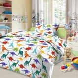 Детское постельное белье с динозаврами Дино-Пати бязь, 100% хлопок