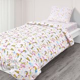 Детское постельное белье для девочек Единороги со звездочками