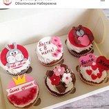 Капкейки на день рождения заказать киев, подарок на день рождения капкейки заказать Киев