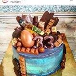 Подарок мужу на день рождения торт заказать Киев, торт зеркальная глазурь Киев