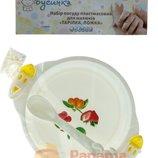 Набор детской посуды Тарелка Ложка 888-021 Бусинка