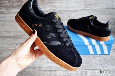Кроссовки мужские Adidas Gazelle black замша