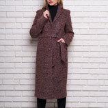 Пальто женское из буклированной ткани, р. 42-52 цвета
