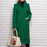 Пальто женское из буклированной ткани А1, р. 42-52 цвета