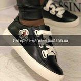 Женские Кожаные Кроссовки Кеды кроссовки в стиле Moncler