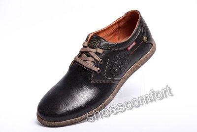 Кожаные туфли Clarks Original 181 черные