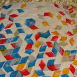 платок шелк принт Удивительные ромбы 84Х85 идеал Hermes Chanel косынка