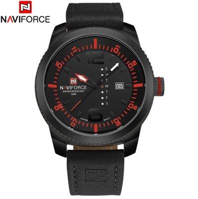 Классические часы Naviforce Naviforce Target Black 9063B / Чоловічий годинник