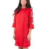 Льняное платье вышивка коллекция 2018 От С до 4ХЛ