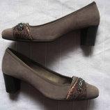 Gabor 39 замшевые туфли женские