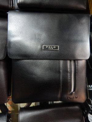 Мужская сумка через плечо от фирмы Polo кожаный клапан