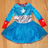 Новогоднее платье Мисс Америка для девочки 3-4 года, 98-104 см