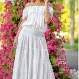 Костюм юбка и блузка, топ хлопок Indiano, Fresh-cotton