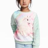 Мякі та милі світшоти з єдинорогом для дівчат 18-24 місяці фірми H&M Швеція