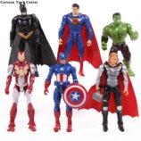Набор марвел супергерои 6 шт халк тор бетмен супермен капитан америка железный человек