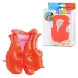 Детский надувной трехкамерный жилет Интекс от 3 до 6 лет Intex 58671