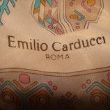 шаль шарф платок Emilio Carducci roma Италия принт Изморозь оригинал Hermes Chanel косынка