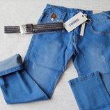 Джинсовые брюки для мальчиков 134-164см